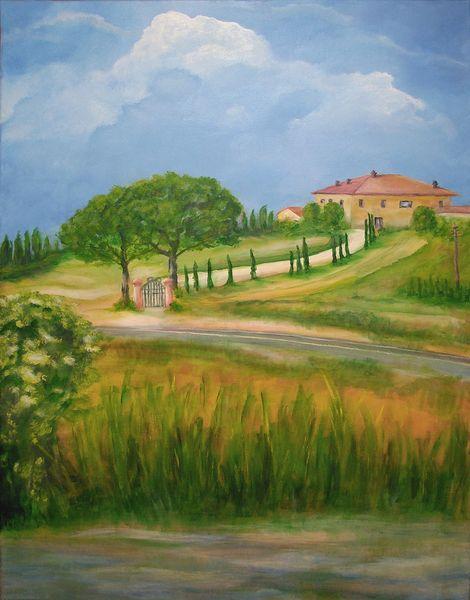 Licht, Toskana, Wärme, Sommer, Malerei,