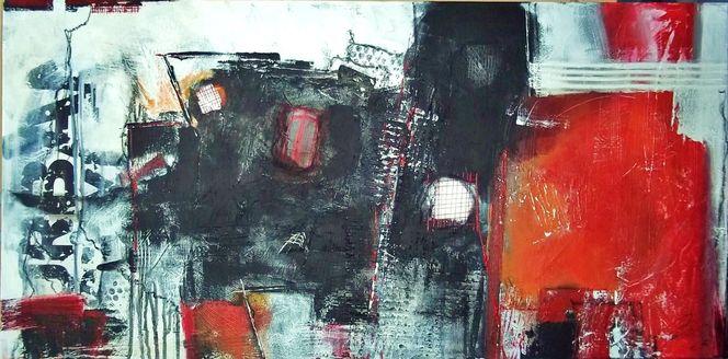 Schrift, Struktur, Rot schwarz, Ocker, Linie, Spuren