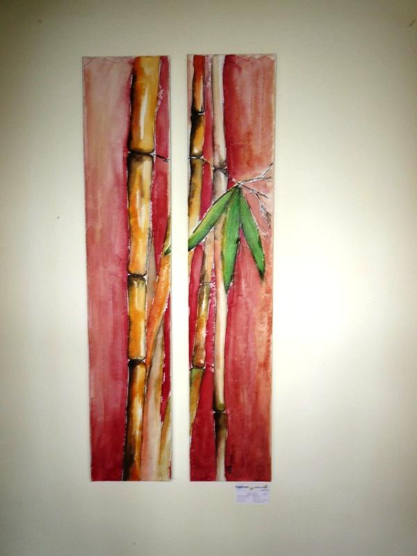 bambus rot bild kunst von kunstraum bei kunstnet. Black Bedroom Furniture Sets. Home Design Ideas