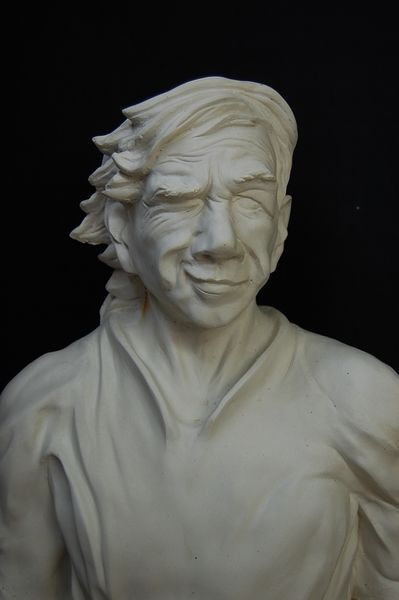 Spieler, Skulptur, Netz, Weiß, Mann, Hand
