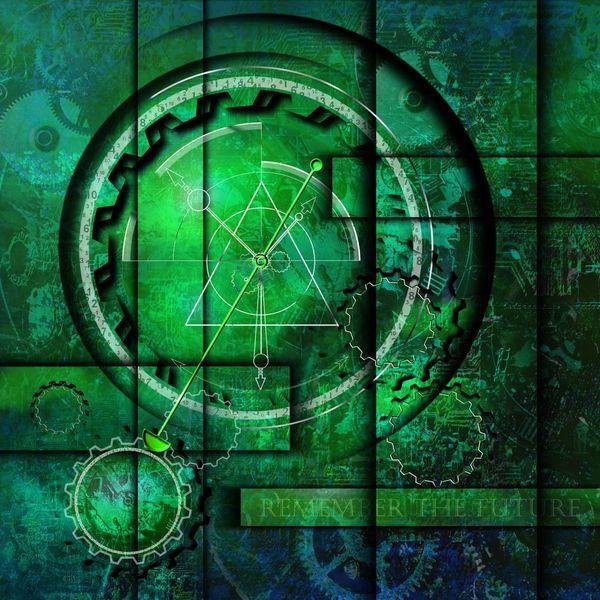 Zahlen, Abstrakt, Surreal, Grün, Pendel, Zeit