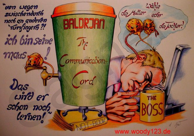 Goldstück, Maus, Traum, Kaffee, Kommunikation, Rote faden