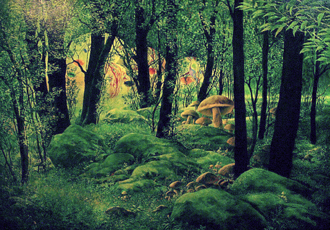 Natur landschaft magie, Malerei, Surreal