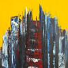 Weg, Stadt, Malerei, Architektur