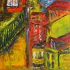 Lissabon, Straßenbahn, Stadt, Malerei