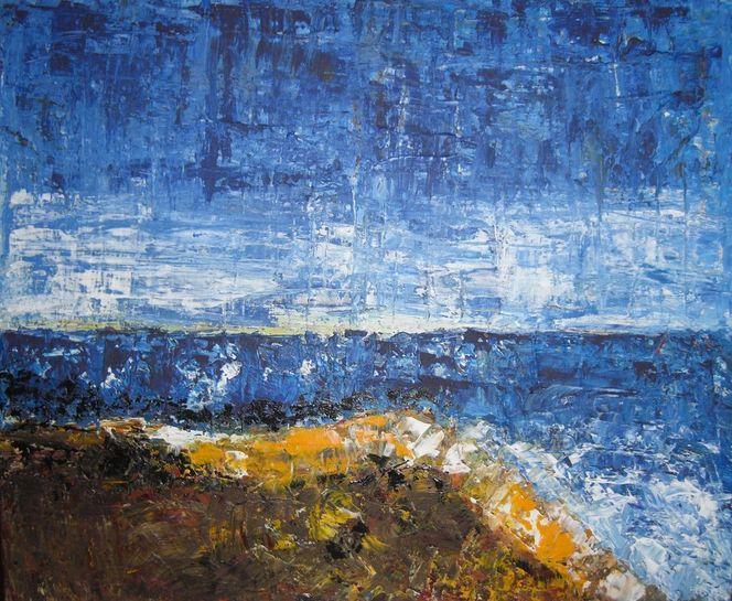 Strand, Meer, Wind, Malerei
