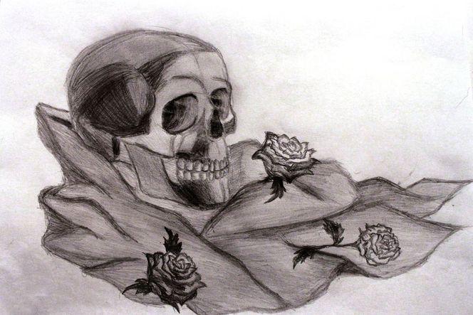 Tod, Zeichnungen, Stillleben