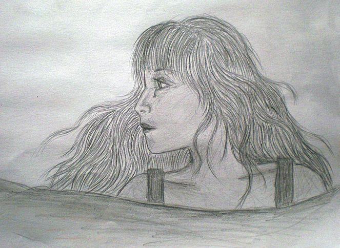 Einsamkeit, Traurig, Tränen, Malerei,