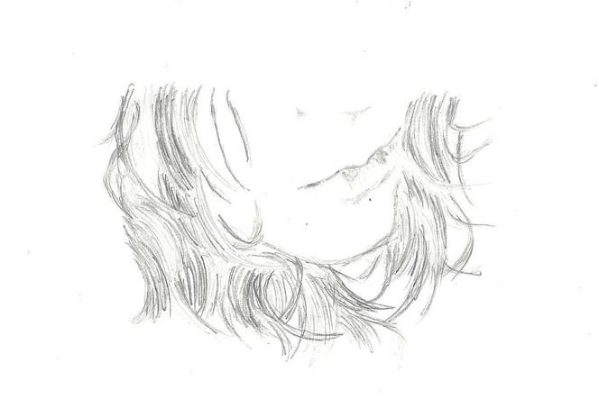 Lippen, Zeicnung, Haare, Zeichnungen