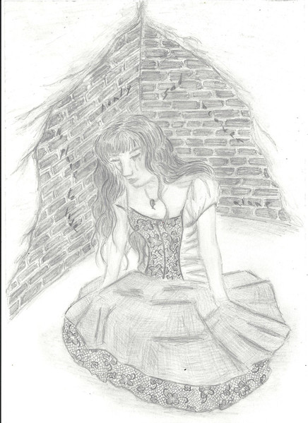 Allein, Zeichnung, Einsamkeit, Zeichnungen