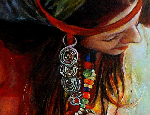 Ölmalerei, Fragment, Symbol, Heile welt, Portrait, Malerei