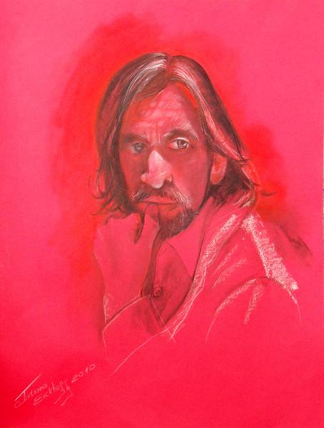 Kohle portraits, Pastellmalerei, Kreide, Kohlezeichnung, Portrait