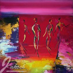 Acrylmalerei, Sehnsucht, Figur, Rosa, München, Malerei