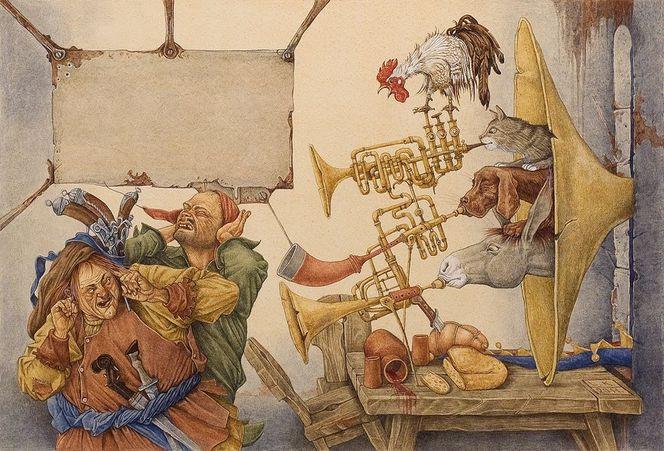 Illustration, Kinderbuch, Märchen, Malerei, Menschen