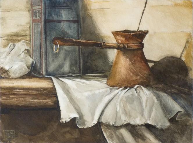 Stillleben, Aquarellmalerei, Kaffee, Malerei