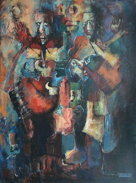 Figur, Acrylmalerei, Expressionismus, Abstrakt, Formen, Malerei