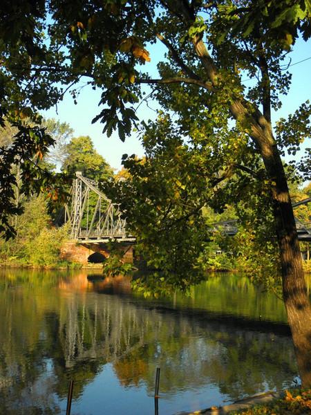 Saale, Kunstfotografie, Fluss, Brücke, Halle, Fotografie