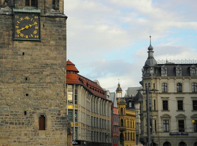 Saale, Fotografie, Marktplatz, Kunstfotografie, Architektur, Halle