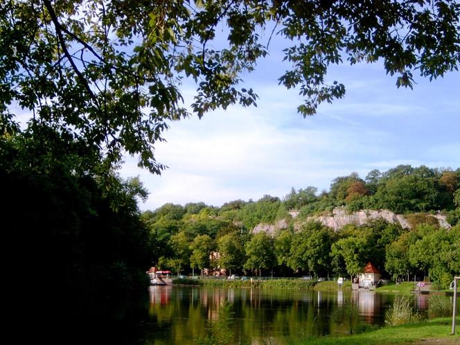 Fluss, Sommer, Fotografie, Saale, Kunstfotografie, Halle