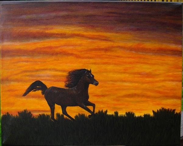Pferde, Ölmalerei, Malerei, Tiere, Freiheit,