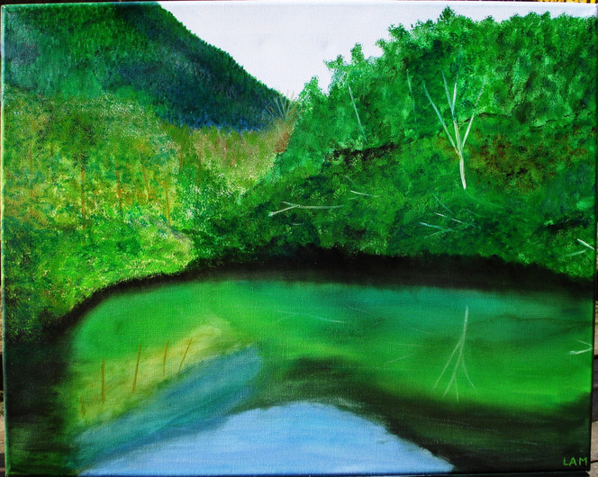 Landschaft, Ölmalerei, Malerei, Spiegel,