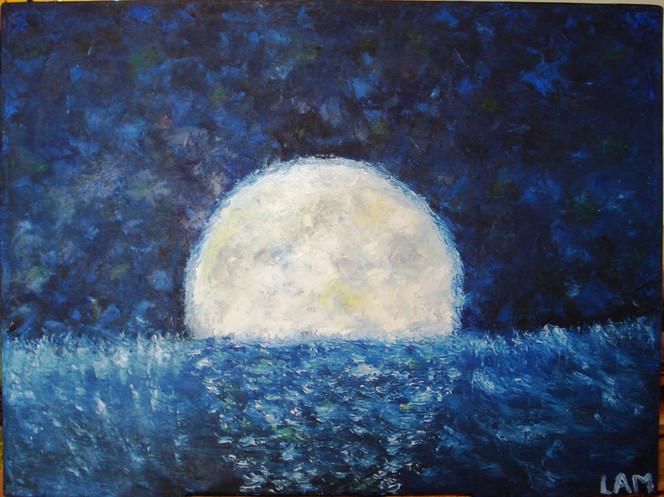 Ölmalerei, Moond, Malerei,