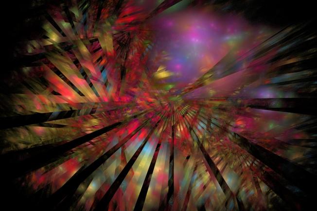 Fraktalkunst, Grafik, Digital, Strahlen, Suhlen, Tiere