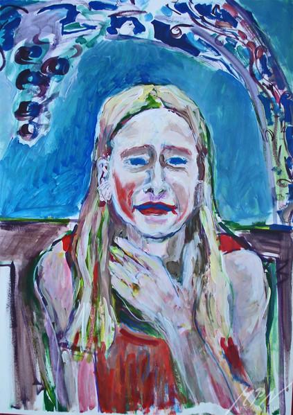 Farben, Acrylmalerei, Kinderportrait, Malerei, Menschen