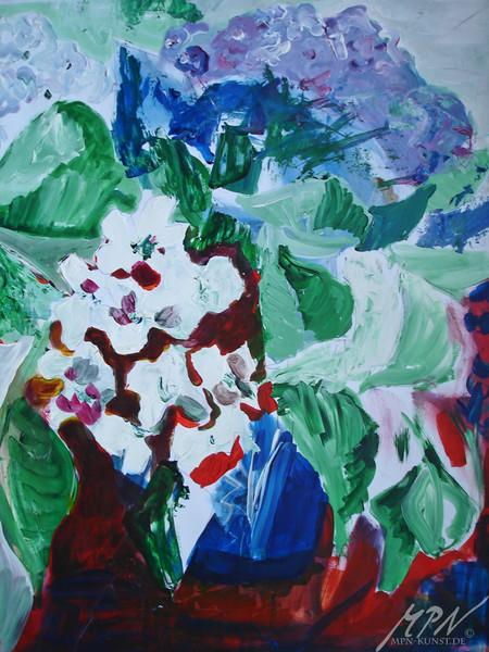 Blumen, Farben, Abstrakt, Acrylmalerei, Malerei