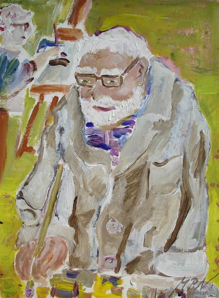 Mann, Portrait, Acrylmalerei, Malerei, Malen, Atelier