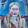 Kinderportrait, Farben, Acrylmalerei, Malerei