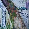 Acrylmalerei, Weide, Moos, Birken