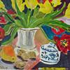 Bunt, Früchte, Acrylmalerei, Blüte