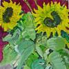 Schale, Blumen, Blumenstillleben, Acrylmalerei