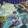Stillleben, Japanisch, Acrylmalerei, Figur