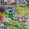 Frische, Acrylmalerei, Gemüse, Gefäß