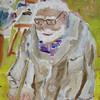 Atelier, Portrait, Mann, Acrylmalerei