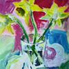 Bunt, Narzissen, Stillleben, Acrylmalerei