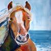 Pferde, Acrylmalerei, Urlaub, Sonne