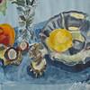 Spiegelung, Oberfläche, Früchte, Herbst