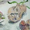 Acrylmalerei, Zwiebeln, Essen, Gemüse