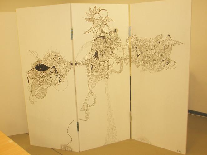 Apfel, Bleistiftzeichnung, Edding, Zeichnung, Fahrrad, Graffiti