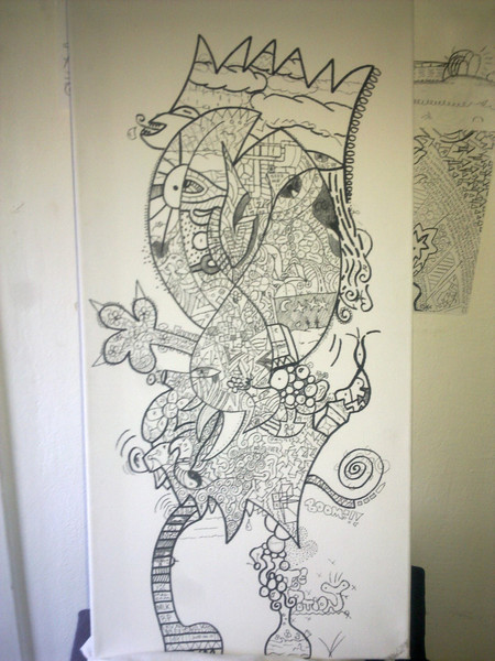 König, Edding, Zeichnung, Fahrrad, Graffiti, Abstrakt