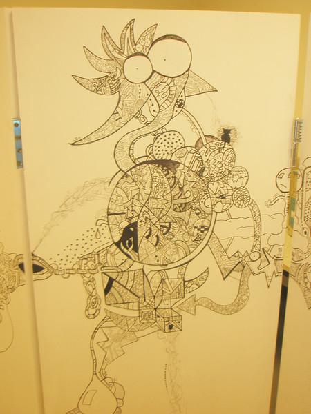 Blumen, Herbst, Bleistiftzeichnung, Wand, König, Lack
