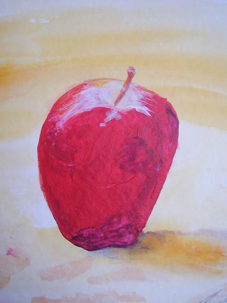 Lebensmittel, Apfel, Obst, Aquarellmalerei, Natur, Rot