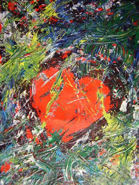 Abstrakt, Herz, Acrylmalerei, Malerei