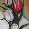 Blumen, Tulpen, Malerei,