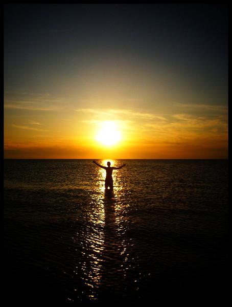 Sonnenuntergang, Meer, Sonne, Fotografie, Menschen