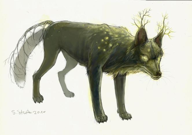 Malerei, Figural, Wolf