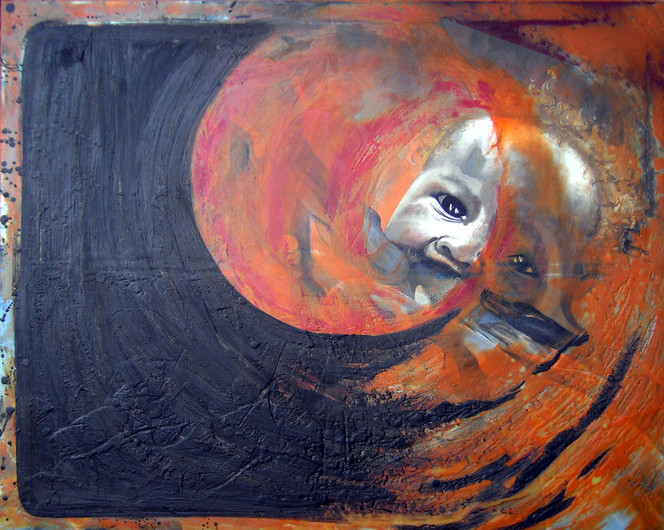 Enkaustik, Durchflossen, Ölmalerei, Kinder, Acrylmalerei, Afrika